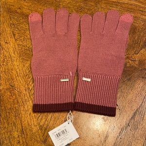 Authentic COACH New York Pink Mittens Gloves